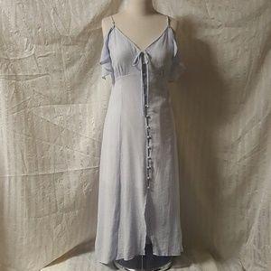 ASTR Cold Shoulder Button Front Dress